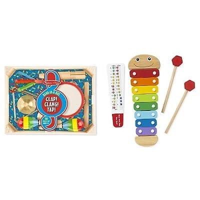 Melissa & Doug Band in a Box & Caterpillar Xylophone Bundle: Toys & Games