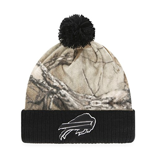 Camo Bill Cap (NFL Buffalo Bills Greyson OTS Cuff Knit Cap with Pom, One Size, Realtree)