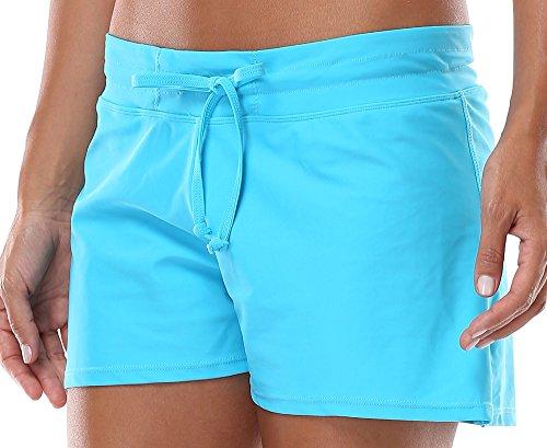 Charmleaks Women's swim bottoms boardshorts swimwear swim short swim shorts women Size Large