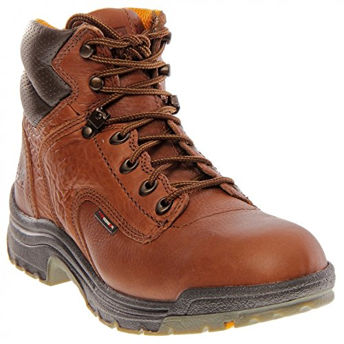 055398210 Timberland PRO Women's TiTAN Work Boots - Coffee Coffee Full Grain Leather