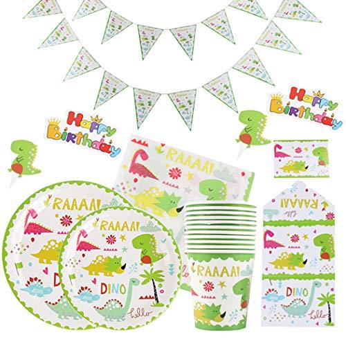 FunPa Party Supplies Set Disposable Dinnerware Set Tableware Kit for Kids Birthday - Party Dinnerware Range