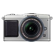 Olympus PEN E-P1 12 MP Micro Four Thirds Interchangeable Lens Digital Camera with 14-42mm f/3.5-5.6 Zuiko Digital Zoom Lens (Silver Body/Black Lens)