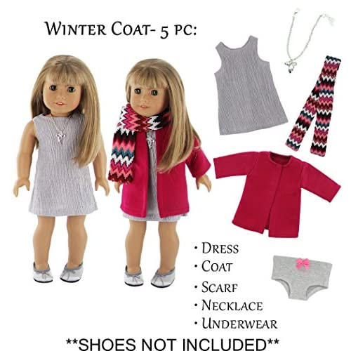 Shoes For 18 Inch American Girl Doll Clothes Set Fashion Clothes Down Jacket