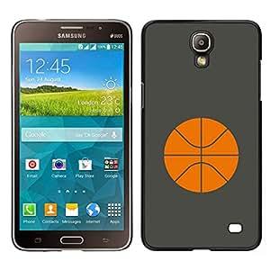 EJOY---Cubierta de la caja de protección para la piel dura ** Samsung Galaxy Mega 2 ** --Baloncesto Naranja minimalista Deporte