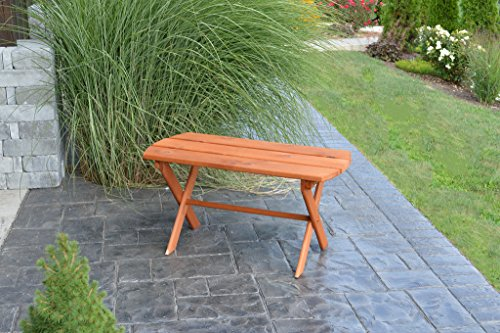 - Western Red Cedar Unfinished Outdoor Folding Coffee Table Amish Made in The USA