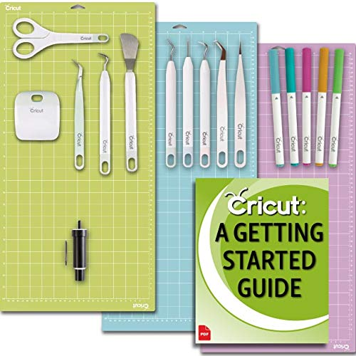- Cricut Machine Beginner Set: Basic Tool Kit, Essential GripMats, Pen Set, Deep-Point Blade for Posterboard and Cardstock
