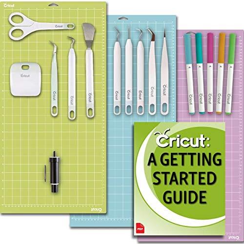 Cricut Machine Beginner Set: Basic Tool Kit, Essential GripMats, Pen Set, Deep-Point Blade for Posterboard and Cardstock