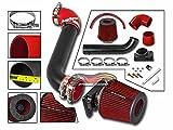 Velocity Concepts MATT BLACK Short Ram Air Intake Kit + RED For 00-05 Mitsubishi Eclipse 99-03 Galant 2.4L 3.0L