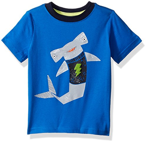 Gymboree Toddler Boys' Short Sleeve Printed Tee, Blue, 12-18 Mo from Gymboree