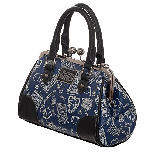 Dr Doctor Who Scribble Art Kiss Lock Satchel ()