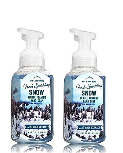 Bath & Body Works, Gentle Foaming Hand Soap, Fresh Sparkling Snow (2-Pack) (Soap Bath Scented)