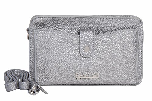 Quarter Bag - Kenneth Cole Reaction KN1868 Alpine Mini Cross Body Bag (SILVER QUARTER)