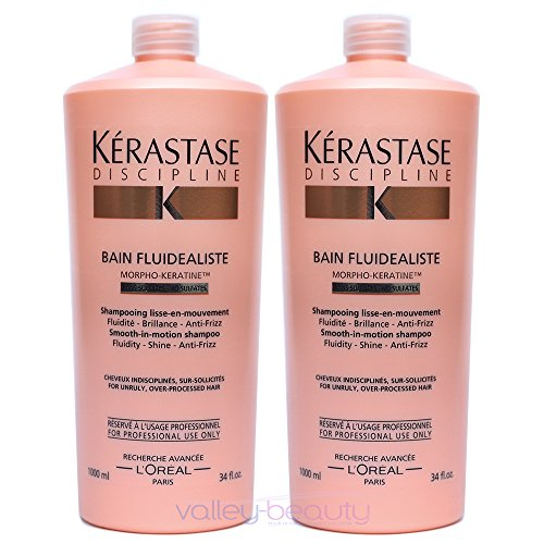 Pack Discipline 3 : 2 X Bain Fluidealiste Sulfate Free 1000ml Kerastase + 2 Pump Shipping Fast by HEALTYCARE