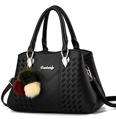 Covelin Womens Top Handle Handbag Fashion Tote Purse Crossbody Shoulder Bag
