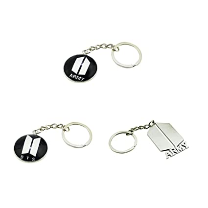 Cute Cartoon Kpop BTS Bangtan Boys Keychain Key Ring Hot Gift for ARMY, 3 Pcs/Set (1.3Pcs)