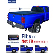 Tyger Auto TG-BC3D1012 Tri-Fold Tonneau Truck Bed Cover Fits 2002-2017 Dodge Ram 1500; 2003-2017 Dodge Ram 2500/3500 8' Long Box