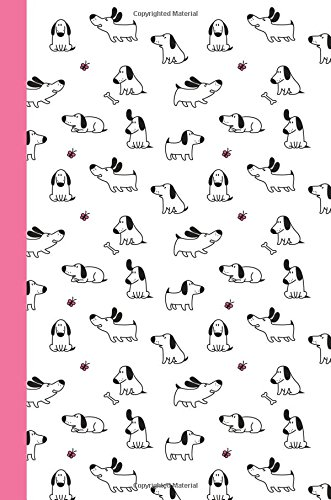 Journal: Dogs and Butterflies (Pink) 6x9 - GRAPH JOURNAL - Journal with graph paper pages, square grid pattern (Dogs & Puppies Graph Journal Series)