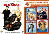space academy dvd - Comedy Marathon Movies Twins / Dragnet / Junior / Pure Luck + Old Dogs DVD Bundle 5 Feature Collection