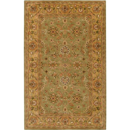 UPC 764262921229, Surya Crowne CRN-6001 Classic Hand Tufted 100% Wool Caper Green 5' x 8' Traditional Area Rug