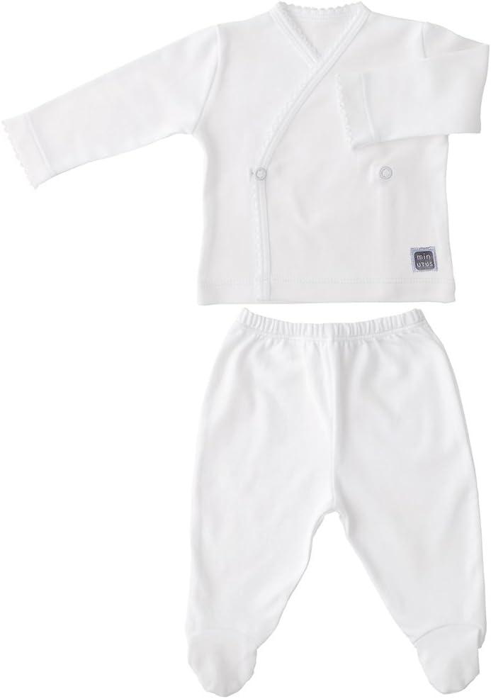 Conjunto para Bebé - Camiseta Cruzada y Polaina con Pie - Blanco ...