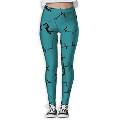b4e76fca2c434 Amazon.com: Fishing-Heartbeat Women 3D Printed Leggings Workout Lightweight  Legging Yoga Pants: Clothing