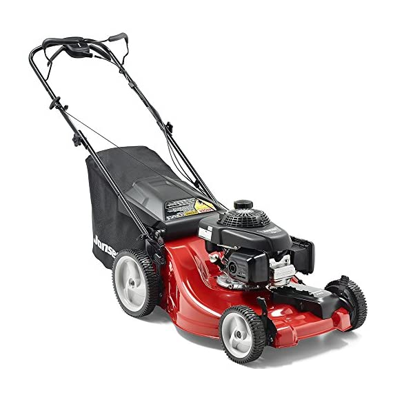 Jonsered L2821, 21 in. 160cc GCV160 Honda 3-in-1 Walk Behind Front-Wheel-Drive Mower 8 Powered by 160cc Honda GCV160 engine with 6.9 ft-lbs Gross torque Dual trigger control system allows you to operate with either hand, or split the effort between both. High-tunnel cutting deck design delivers premium cut quality and bagging performance while providing a close trim, every time.
