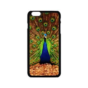 Colorful Peacock Tail Hight Quality Plastic Case for Iphone 6 by lolosakes