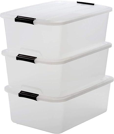 Iris Top Box TB-30 Juego de 3 Cajas de Almacenamiento con Tapa, 30 L, 39 x 57.5 x 20.5 cm, 3 Unidades: Amazon.es: Hogar