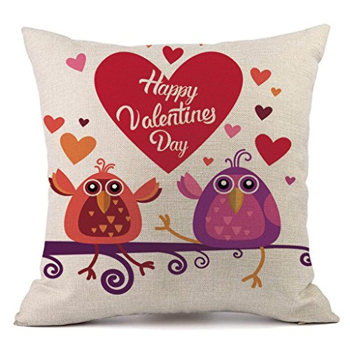Throw Pillow Training (Valentine's Day Fashion Throw Pillow Cases Cafe Sofa Cushion Cover Home Decor (Beige C))