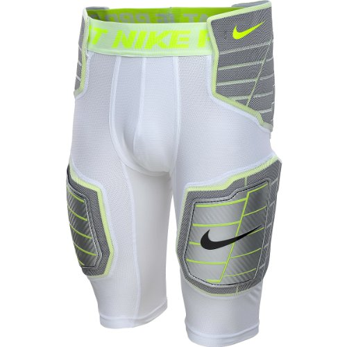 Nike Men's Hyperstrong Hard Plate Football Compression Short - X-Large,white grey