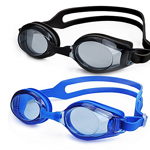 Swimming Google, NonoUV 2-Pack Unisex Silicone Racing Swim Goggles Anti-fog UV Protection No Leaking swimming glasses for Men Women Adult Youth Kids Child Water Sport with Free Protection - Googles Water