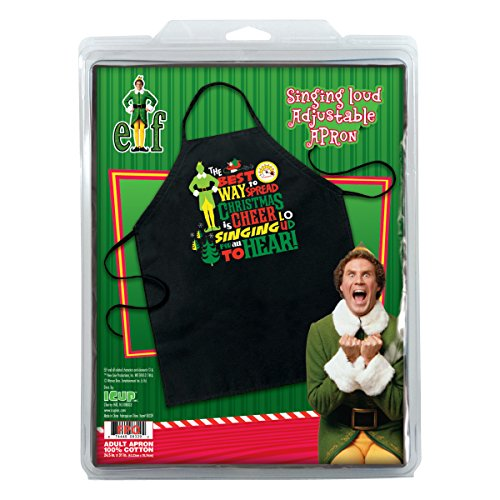 ICUP 15475 Elf the Movie Singing Loud For All Apron, One Size, Multicolor - Elf Aprons