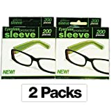 2-Pack- Eyeglass Reading Glasses Sleeve Protectors/ Covers/ Guard for Hair Coloring/ Hair Color Disposable- 400 Sleeves!