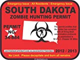 South Dakota zombie hunting permit decal bumper sticker