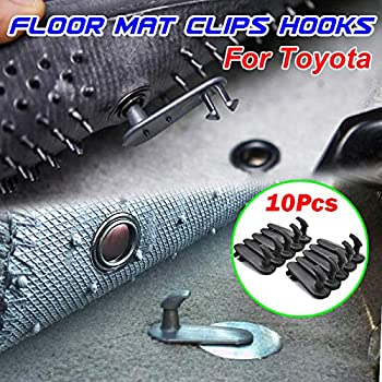 2 x Car Mat Fixing Clips Floor Carpet Clips Hook For TOYOTA Camry Carola Crown