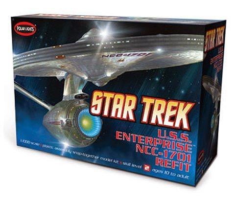 (Round2 Polar Lights Star Trek USS Enterprise NCC-1701-A Refit 1/1000 Scale Model Kit)