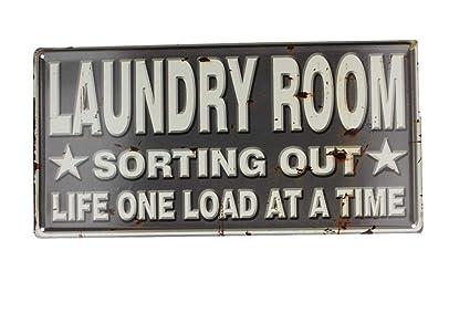 Metal Tin Sign laundry drop your pants here Decor Bar Pub Home Vintage Retro