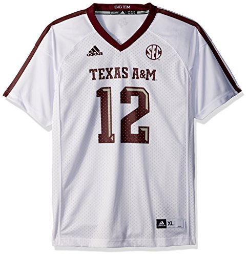 NCAA Texas A&M Aggies Youth Boys Player Replica Fashion Football Jersey, Small (8), White (Jersey Replica Football 8)