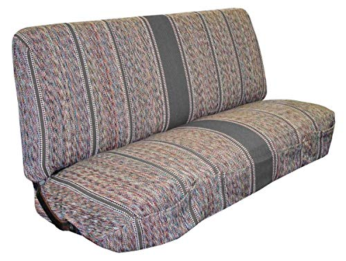 Split Front Bench Seat - Full Size Truck Bench Seat Covers - Fits Chevrolet, Dodge, and Ford Trucks (Gray)