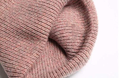 Al Tamaño Libre Rosado Pescador Yingsssq Viento Senderismo Sombrero Rosado color Y Frío De Aire Un Esquí Grueso Punto Tamaño FBWHAqf