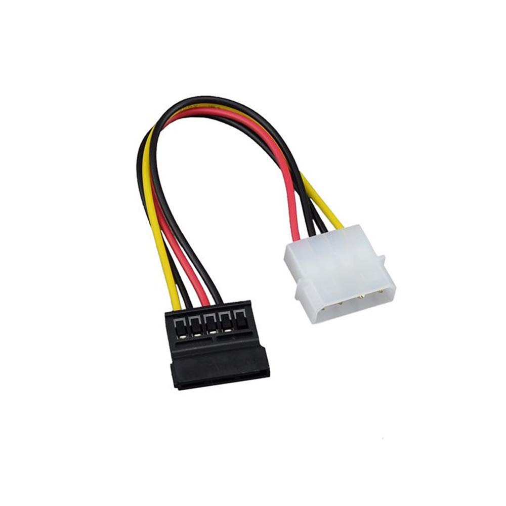 Ogquaton 3 Unids SATA 15 Pin Hembra a 4 Pin Macho Cable de Conector de Alimentaci/ón Adaptador de Cable de Alimentaci/ón SATA de Alta Velocidad Pr/áctico y Popular