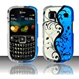 For AT&T ZTE Z431 Prepaid GoPhone Rubberized HARD Case Phone Cover Blue Vines