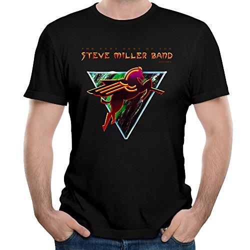 Naviiro Men's The Very Best Of The Steve Miller Band Short Sleeves T Shirt Black 3X (The Very Best Of The Steve Miller Band)