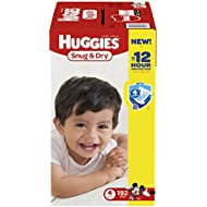 Huggies Snug & Dry Diapers, Size 4, 192 Count (One Month...