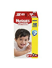 Huggies Snug & Dry Diapers, Size 4, 192 Count (One Month Supply) (Packaging may vary) BOBEBE Online Baby Store From New York to Miami and Los Angeles