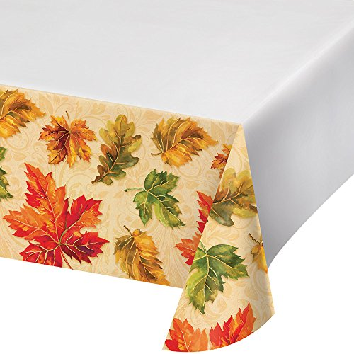 Fall-Themed Plastic Tablecover for these TipsTo Make Camping On Thanksgiving An Easy And Fun Trip In A Tent Or RV