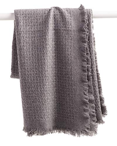 a & R Cashmere Blend Basketweave Throw