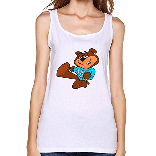 Vanderbilt Womens White Tank Top (WANTAI Women's Sugar Crisp Cereal Bear Tank Top)