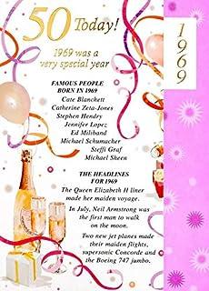 Simon Elvin 2019 50th Female Birthday Card