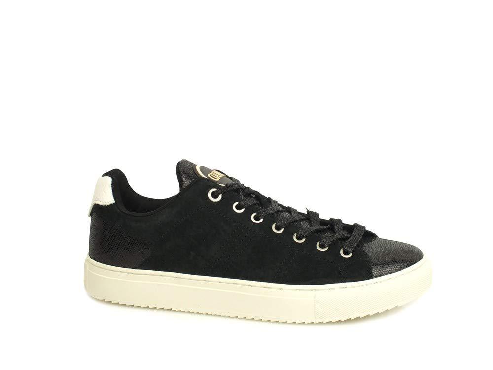 Colmar Bradbury Lux Zapatos Negros Mujer Zapatillas Cordones Ante Gamuza 37 EU|Nero